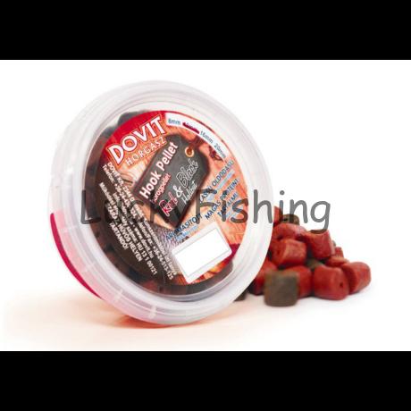 Dovit Red & Black Fűszeres Kolbászos Fúrt Halibut horogpellet 14mm