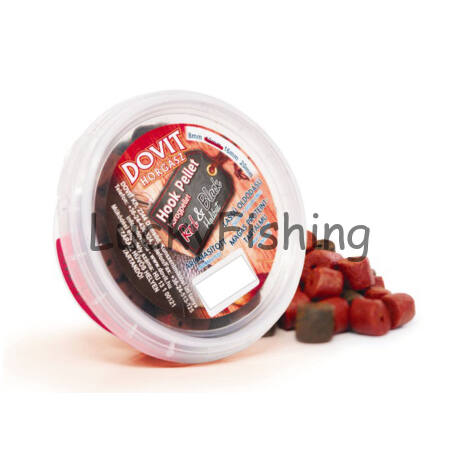 Dovit Red & Black Chilis szilvás Fúrt Halibut horogpellet 14mm